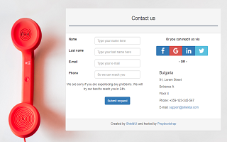 Contact-Us Form With A Map Template   PrepBootstrap