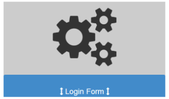 Bootstrap template, demonstrating a hover login form