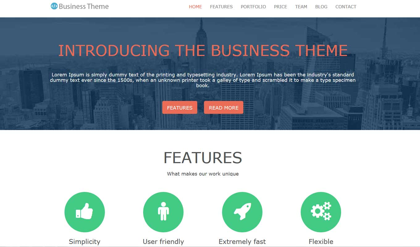 Business professional theme