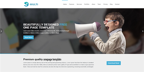 Multi - Responsive One Page