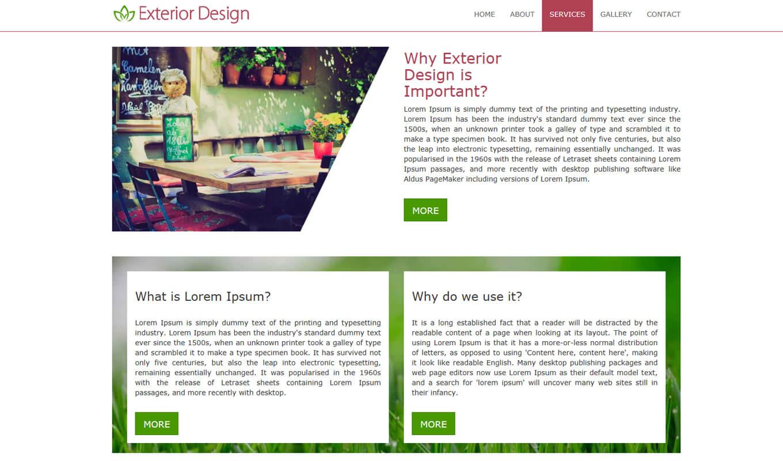 Exterior design theme prepbootstrap for Online exterior design services