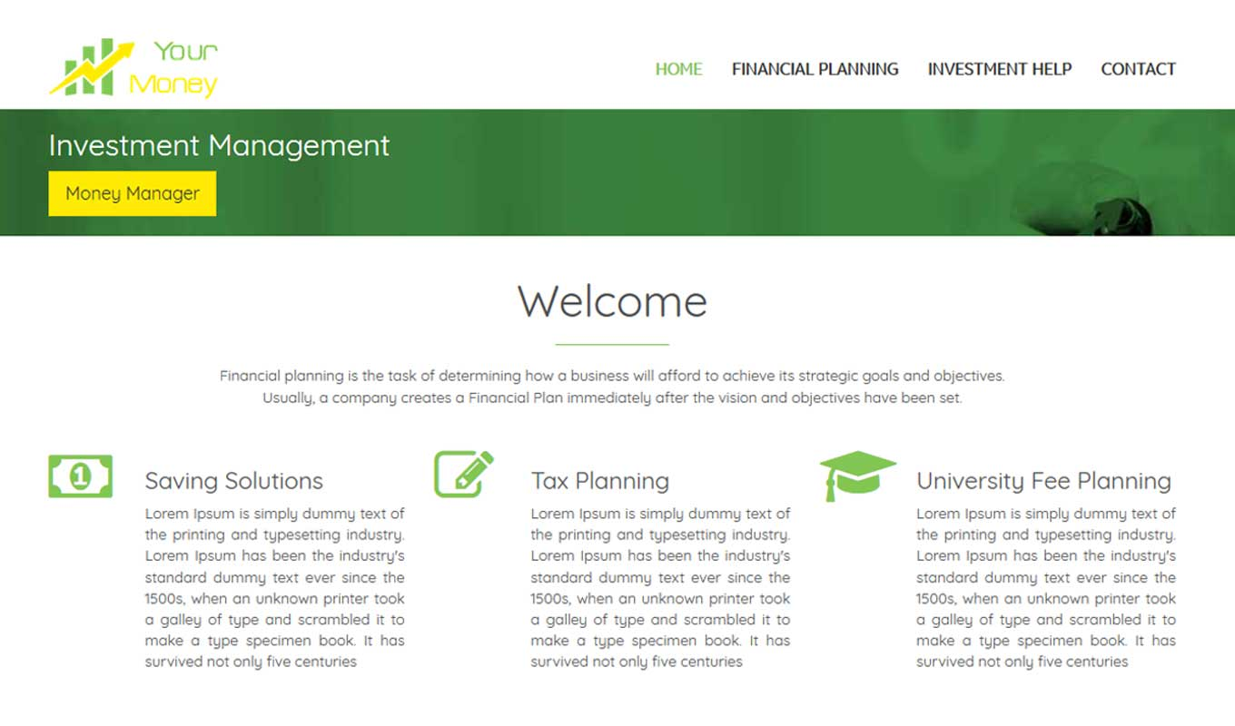 Financial Planning - Financial Planning theme